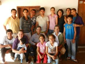 Paraguayan families are typically large, averaging 7 kids. This is some of my host family and their extended relatives: sisters, aunt, uncle, who came for a surprise visit.