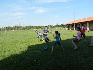 Wrapping up Kids' Club with a favorite pasttime: Futbol (soccer)