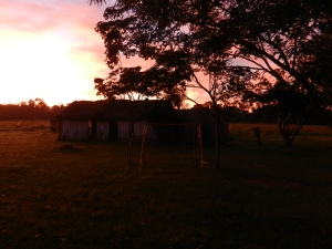 Sunrise in my backyard/school playground