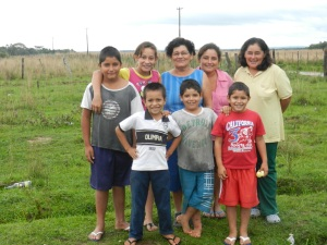 Ña Celia with several of her 12 children and 18 grandchildren!