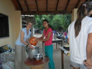 Making traditional chipa with my host family during semana santa (Easter week), a very popular custom.