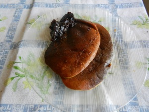 Passion Fruit (mburucuya) Pancakes with Jam