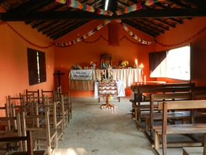 Church decorated for Fiesta Patronal 2013