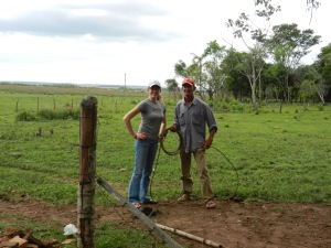 My neighbor, Ismael, teaching me to throw a lasso. So fun!