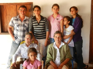 The family (back row, L to R):  Victor, Isabel, Rocio, Hilda, Irma. (front row L to R): an uncle, Ingrid, favorite aunt