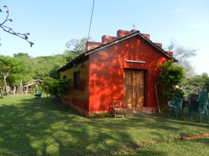 Our little red church, known locally as the 'oratorio' or 'iglesia'.
