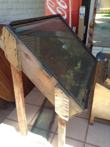 Solar food dryer. Dries fruit, veggies, meat, and herbs in 1-3 days. This sample is 1 meter x 1 meter.