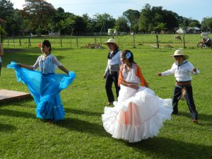 6th graders dancing at their despedida , or graduation