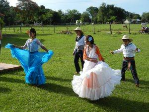 6th graders dancing at their despedida , or graduation