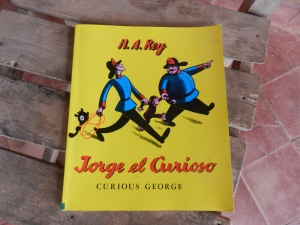 "Curious George book from my local Paraguayan elementary school  (""Jorge el Curioso"" in Spanish)"