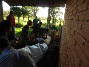 Biodigester installation at a Paraguayan high school