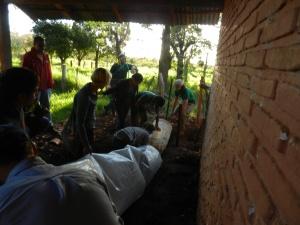 Biodigester installation at a Paraguayan high school