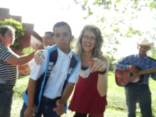 Fiesta Patronal 2014; dancing polka with 18 year old Maximo; despite his Down's Syndrome he was the best dancer at the party and the only one willing to dance with me for HOURS!