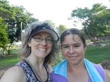 Fiesta Patronal 2014; one of my very best friends in site, Eligia. She's one of the hardest working women I know here.