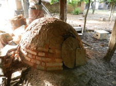 A tatakua, or brick oven used to make traditional Paraguayan breads