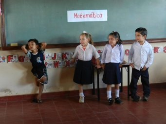 Pre-schoolers performing at their end-of-school-year expo